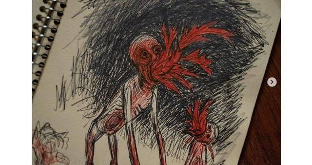 La película 'Antlers' muestra un escalofriante dibujo del set