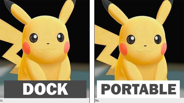 Comparan los gráficos de Pokémon Let's Go! en modo portátil y en dock