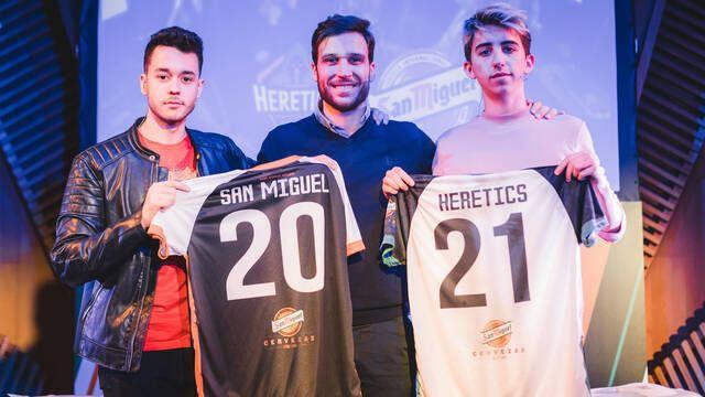 Team Heretics renueva su patrocinio con San Miguel hasta el 2021