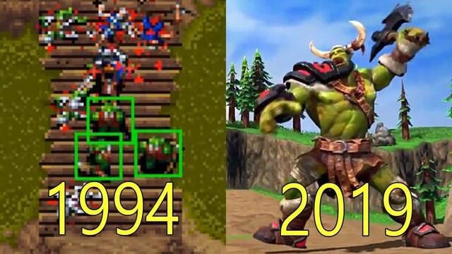 La evolución gráfica de los juegos de Warcraft desde 1995 hasta el 2019