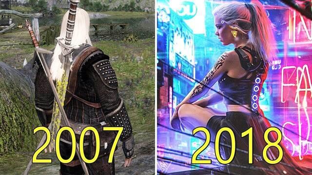 La evolución gráfica de los juegos de CD Projekt: De The Witcher a Cyberpunk 2077