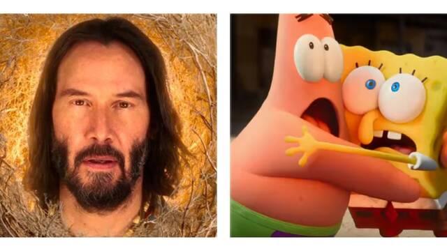 Keanu Reeves sorprende en la película de Bob Esponja