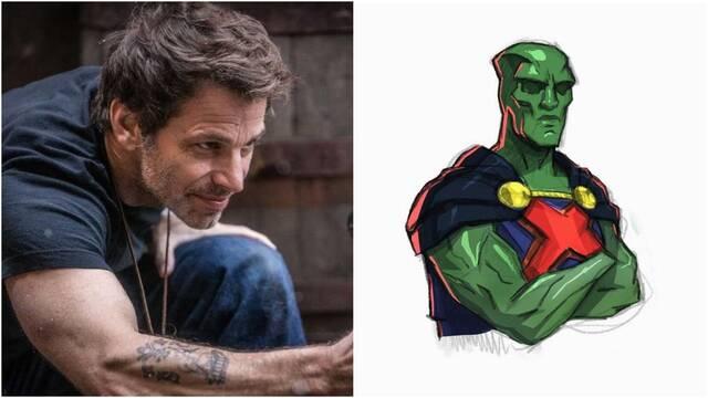 Liga de la Justicia: Zack Snyder muestra el diseño de Detective Marciano en su film