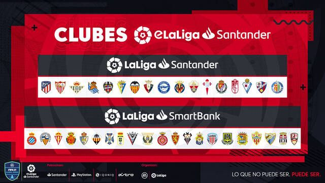 eLaLiga Santander contará con la participación de 38 clubes de LaLiga