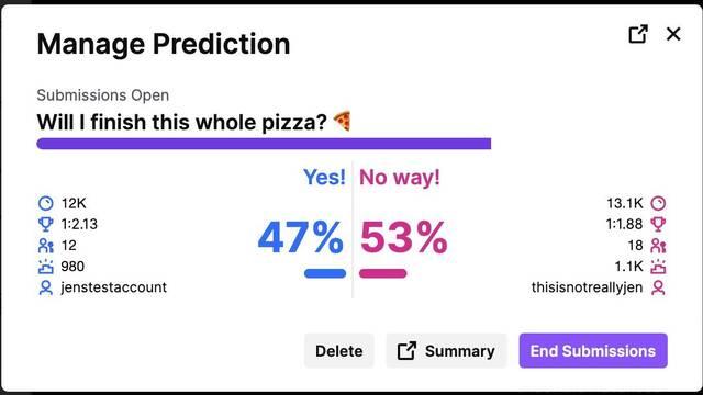 Predictions, la nueva herramienta de Twitch para que los espectadores 'adivinen' nuestro destino