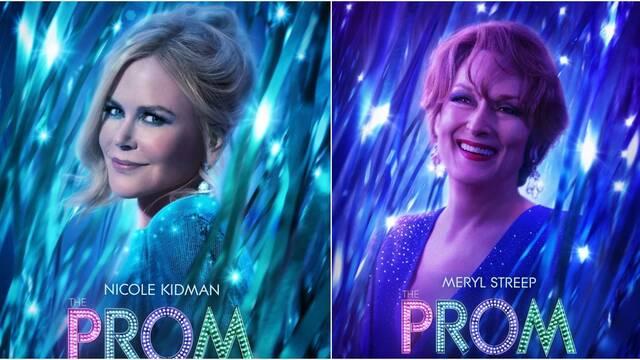 The Prom: Lo nuevo de Nicole Kidman y Meryl Streep presenta sus carteles