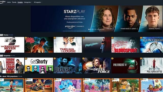 Amazon Prime Video Channels llega a España con Starzplay, MGM, Noggin y más