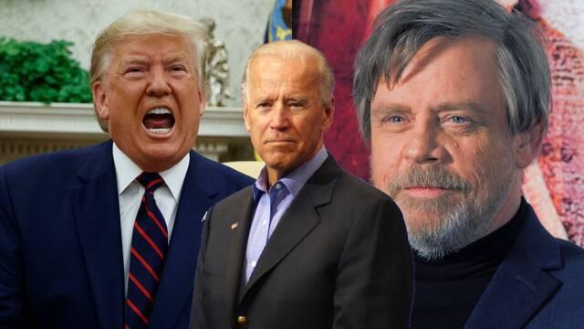 Star Wars: Mark Hamill celebra la elección de Joe Biden con pósters de la trilogía original