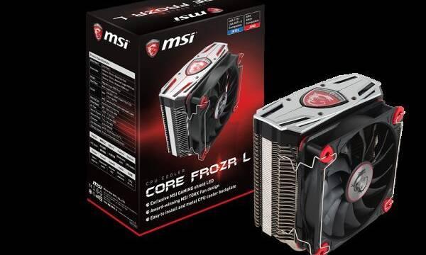 MSI presenta el Core Frozr L, su primer disipador para procesadores