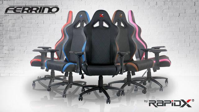 RapidX nos presenta las sillas gamer Ferrino y Finish Line de cara a la Navidad