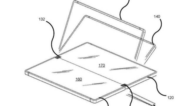 Aparecen imágenes de la patente del teléfono plegable de Microsoft