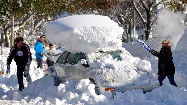 Una pequeña ciudad de Pensilvania queda sepultada por la nieve