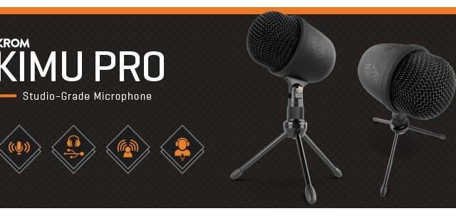 Krom Kimu Pro, el nuevo micrófono para jugadores y streamers