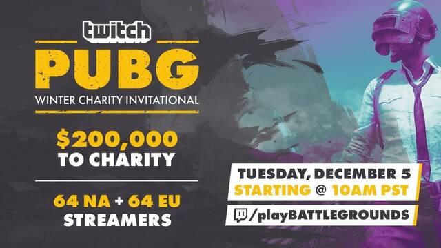 Twitch organiza un torneo benéfico de PUBG de 200 000 dólares con los mejores streamers involucrados