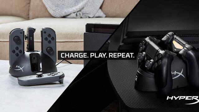 HyperX lanza sus primeros cargadores de mandos para PS4 y Nintendoo Switch