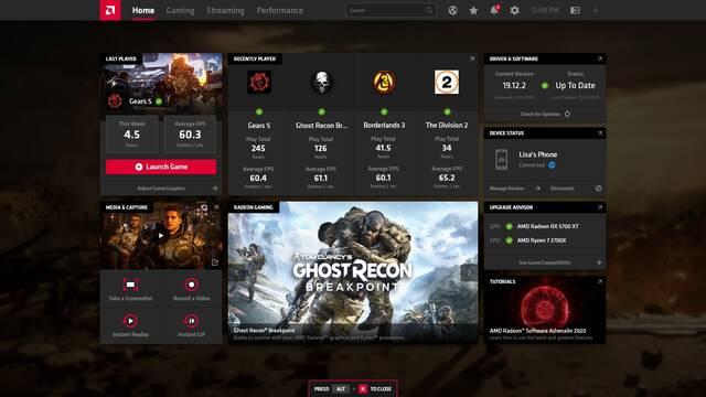 AMD estrena los drivers Radeon Adrenalin 2020 Edition con rediseño de su app para gamers