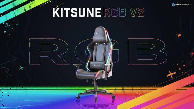 Newskill presenta Kitsune RGB V2, su silla más colorida gracias a la iluminación RGB