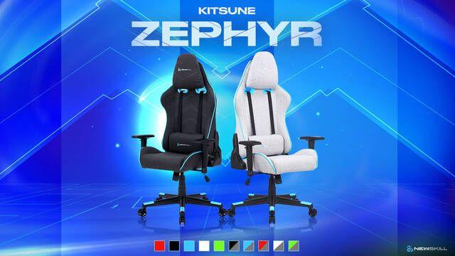 Kitsune Zephyr es la primera silla en tela para jugar de Newskill