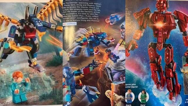 Los Eternos: Los juguetes de LEGO filtran personajes, enemigos y secuencias