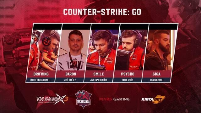 ThunderX3 Baskonia presenta su nuevo equipo de CS:GO