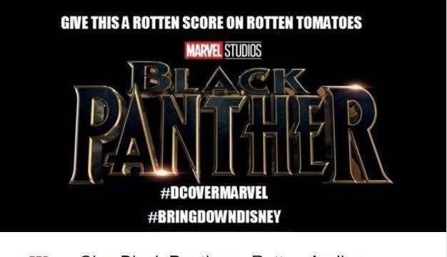 Un grupo de aficionados a DC intentan sabotear la puntuación de 'Black Panther'