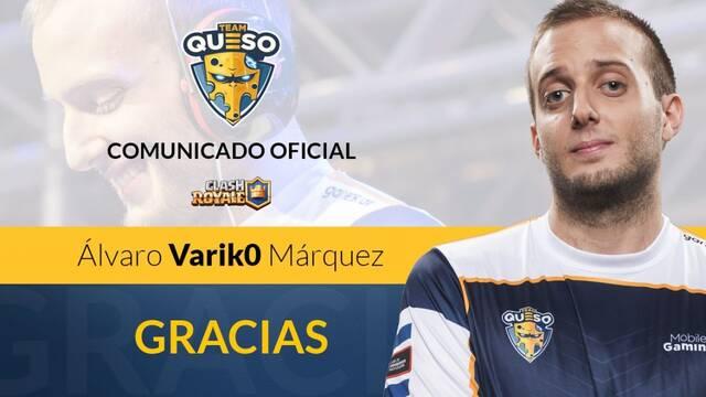 Team Queso anuncia la salida de Varik0