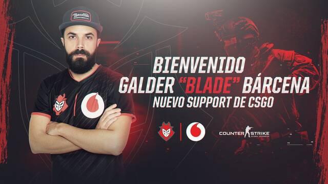 BladE sustituirá a peelk en el equipo de CS:GO de G2 Vodafone