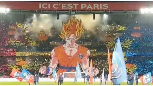 Goku se cuela en el partido del Paris Saint-Germain contra el Marsella