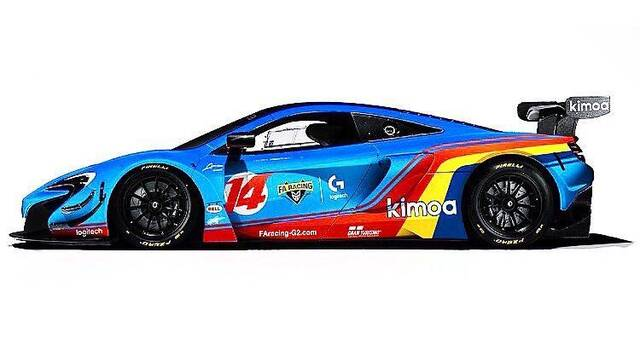 Fernando Alonso presenta la decoración de los coches de su equipo de esports