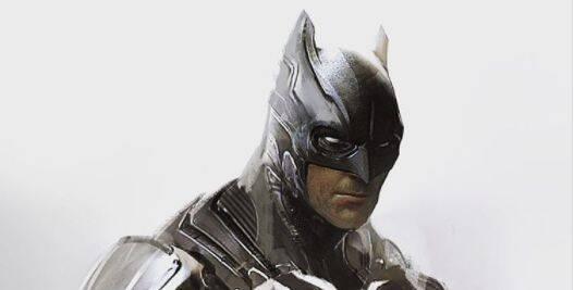 Muestran un arte conceptual del traje descartado de Batman en 'Batman v Superman'