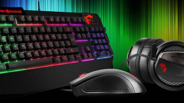 MSI presenta el combo Vigor GK40: teclado híbrido, cascos y ratón con 2400 DPI
