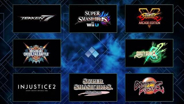 El EVO 2018 ya tiene los 8 juegos en los que se centrará la competición