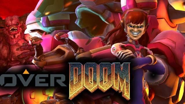 Ahora puedes jugar con las armas de Overwatch… ¡en el primer Doom!