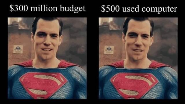 Quitan el bigote de Superman en La Liga de la Justica con un PC barato