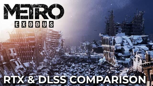 Comparativa gráfica: Metro Exodus con y sin RTX y DLSS