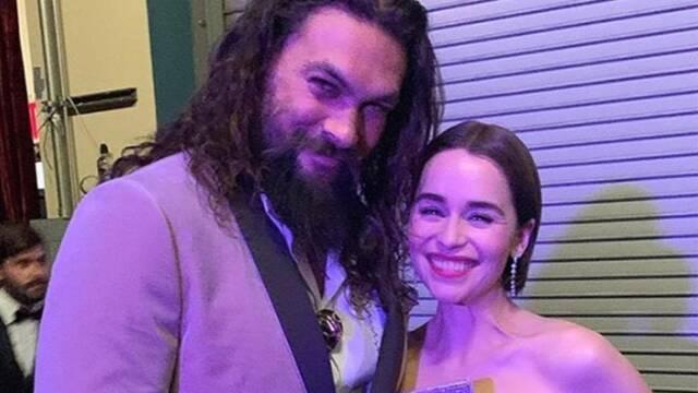Oscar 2019: Emilia Clarke y Jason Momoa se encontraron en la gala