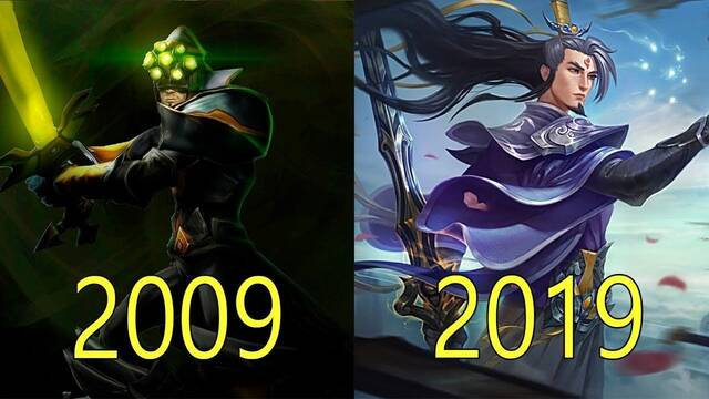 La evolución gráfica de League of Legends de 2009 a 2019