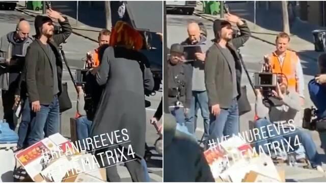 Matrix 4: Filtran una primera imagen de Keanu Reeves en el rodaje