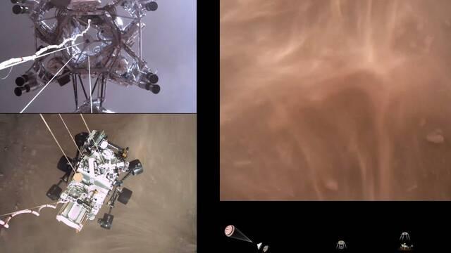 NASA divulga primeros videos del Perseverance en Marte