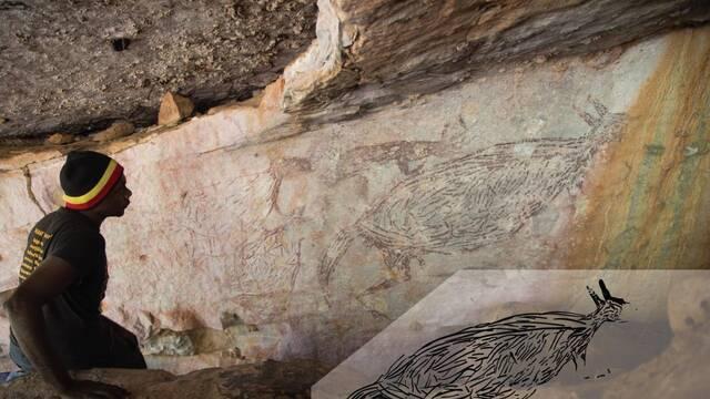 El arte rupestre más antiguo de Australia tiene a un canguro como inspiración