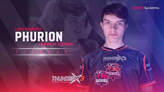 Phurion es el elegido para sustituir a Cinkrof en el ThunderX3 Baskonia