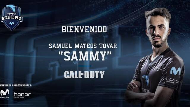 "Movistar Riders incorpora a ""Sammy"" a su equipo de Call of Duty hasta final de temporada"