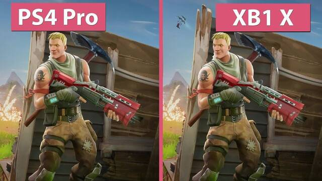 Comparativa gráfica: Fortnite Battle Royale en PS4 Pro y Xbox One X