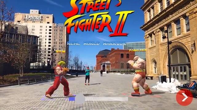 Street Fighter invade el mundo real gracias a la realidad aumentada