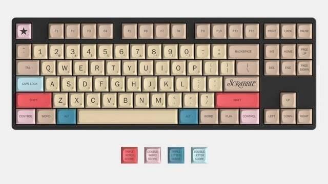 Hasbro lanza el teclado mecánico oficial de Scrabble