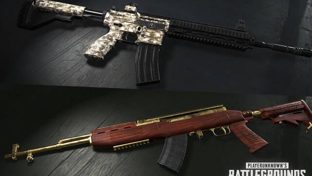 Las skins de armas llegan a PUBG