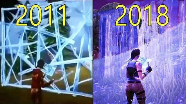 La evolución gráfica y jugable de Fortnite del 2011 al 2018
