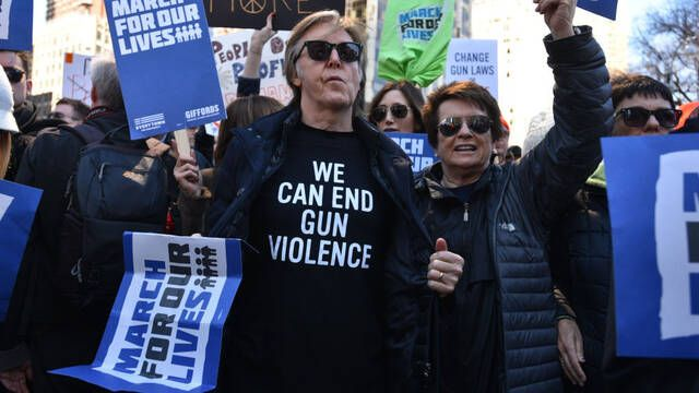 Hollywood se sumó a la manifestación March for Our Lives