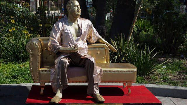 La escultura de Harvey Weinstein que critica sus prácticas abusivas