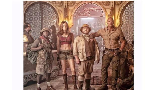 Dwayne Johnson muestra la primera foto oficial de la secuela de 'Jumanji'